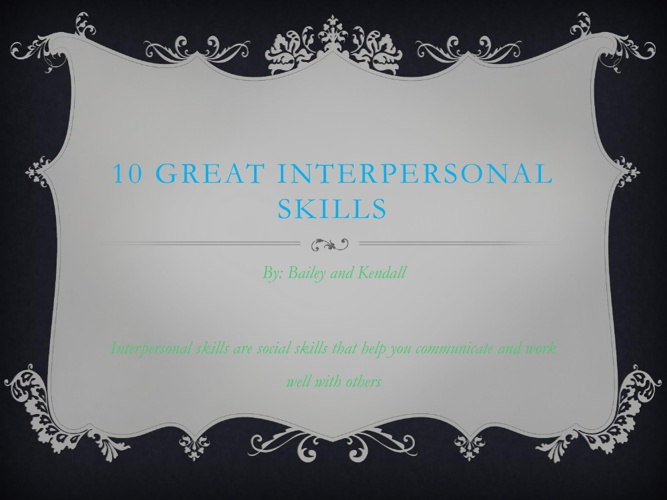 Interpersonal Skills by Bailey and Kendall