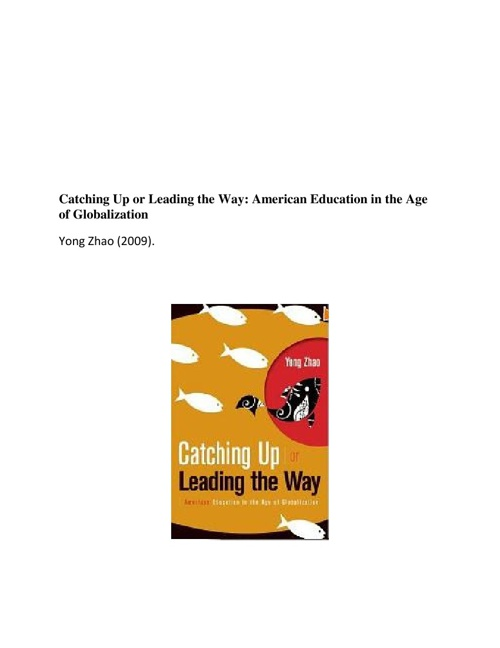 Catching Up or Leading the Way:American Education in the Age of