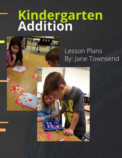 Lesson Plands for Kindergarten Addition