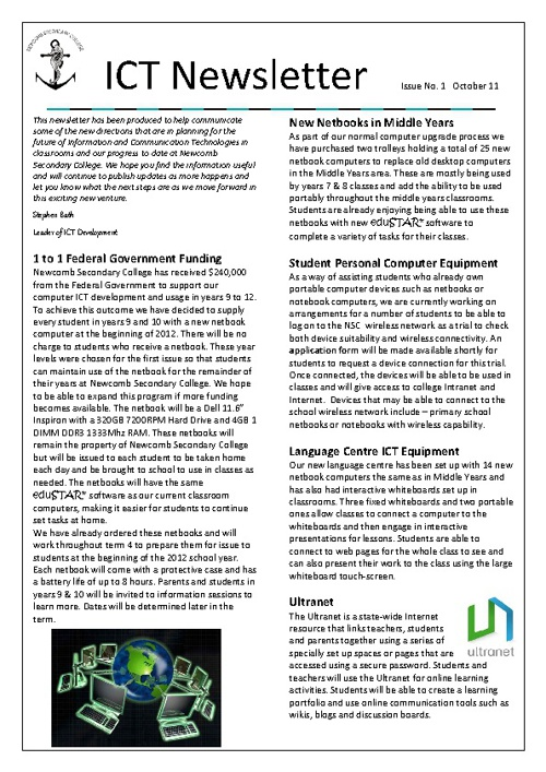 ICT Newsletter 1
