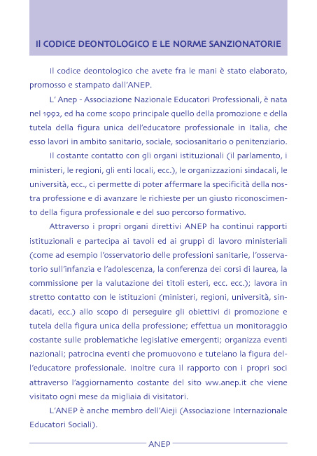 Codice Deontologico ANEP
