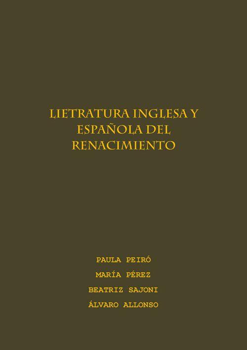 LIETRATURA INGLESA Y ESPAÑOLA DEL RENACIMIENTO