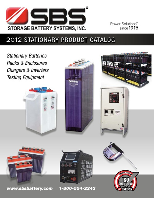 Storage Battery Systems - 2012 Stationary Battery Catalog