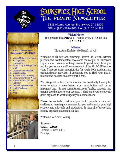 September The Pirate Newsletter