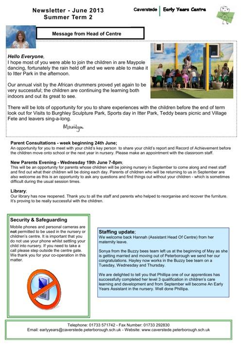 Summer2 2013 newsletter