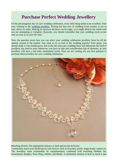 Purchase Perfect Wedding Jewellery