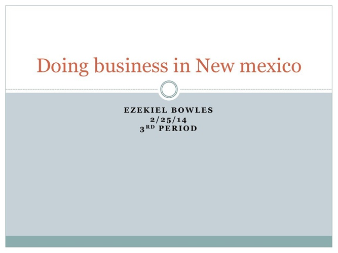 Doing business in New mexico