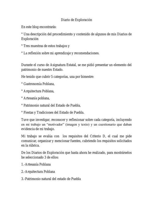 Diario de Exploración(blog)2.0