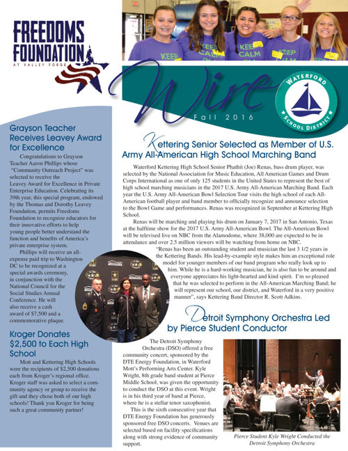 Waterford School District Newsletter Fall 2016