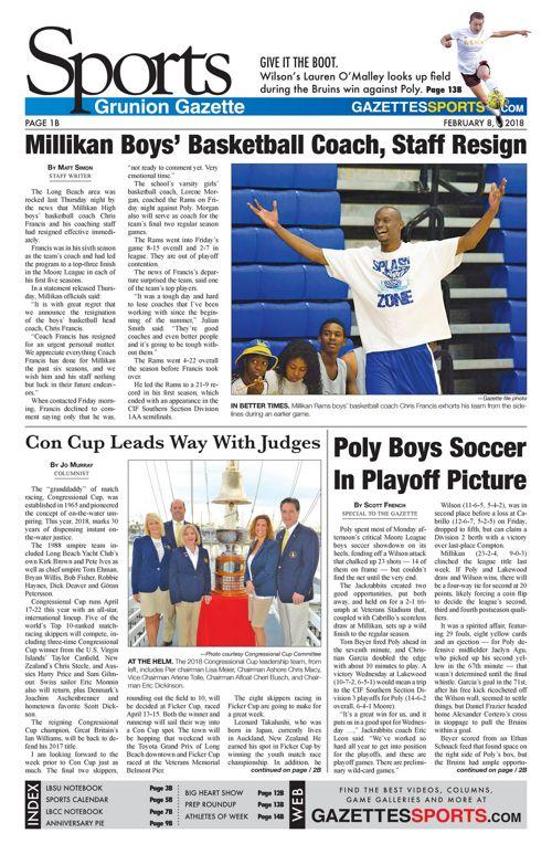 Grunion Sports | February 8, 2018