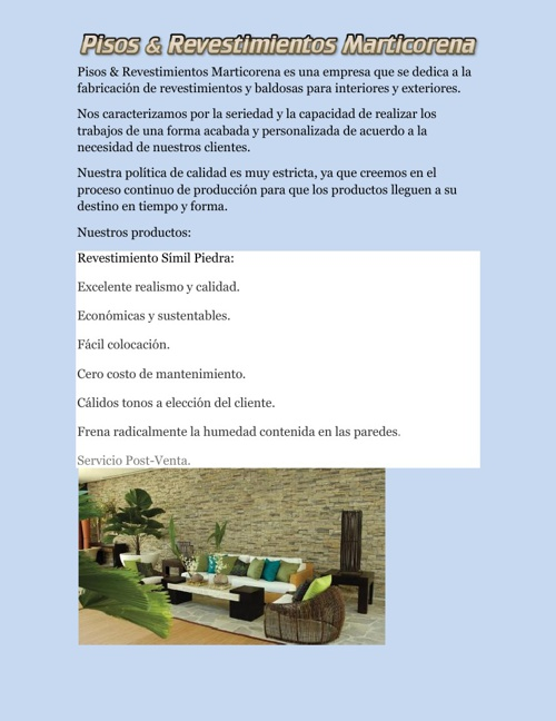 Revestimientos & Baldosas Marticorena