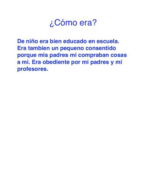 Spanish child story