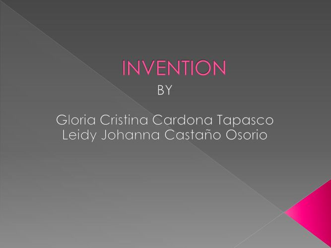 Invention Cristina y Leidy