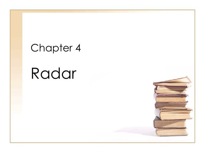 Chapter 4 - Radar