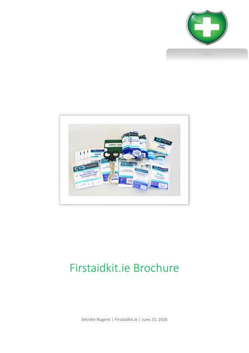 First Aid Kit Brochure