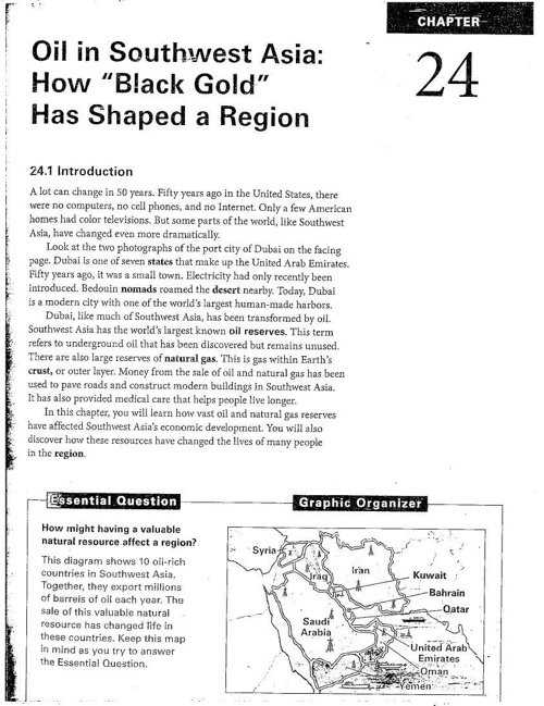 Chapter 24 Oil in Southwest Asia