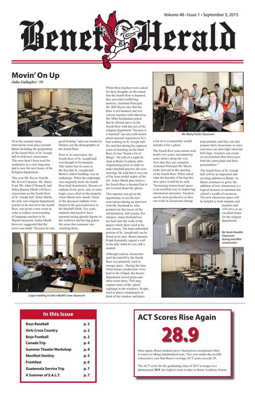 Benet Herald Volume 48 Issue 1