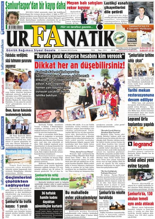 21 Haziran 2013 / Urfanatik Gazetesi