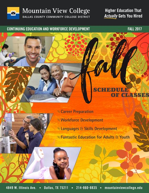 Fall 2017 Schedule of Classes