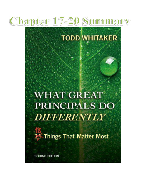 What Great Principals Do Differently, 2nd Ed