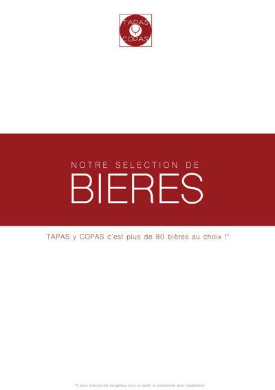 CARTE A BIERES - TAPAS Y COPAS