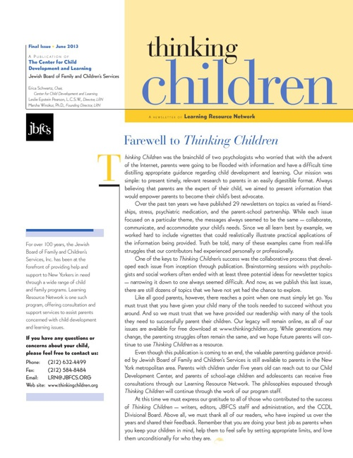 Thinking Children Final Issue
