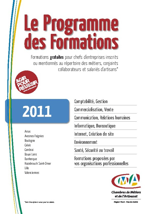 Catalogue de formations 2011