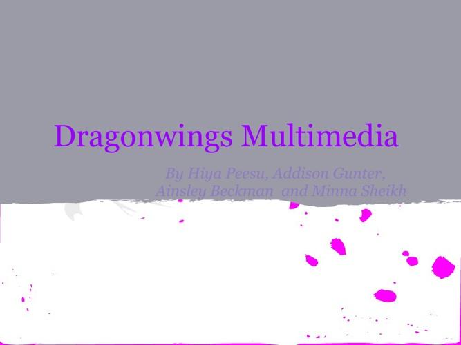 Dragonwings by Laurence Yep ( Hiya, Ainsley, Addison, Minna