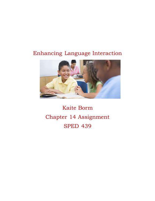 Enhancing Language Interaction