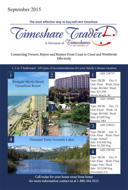 Timeshare September 2015
