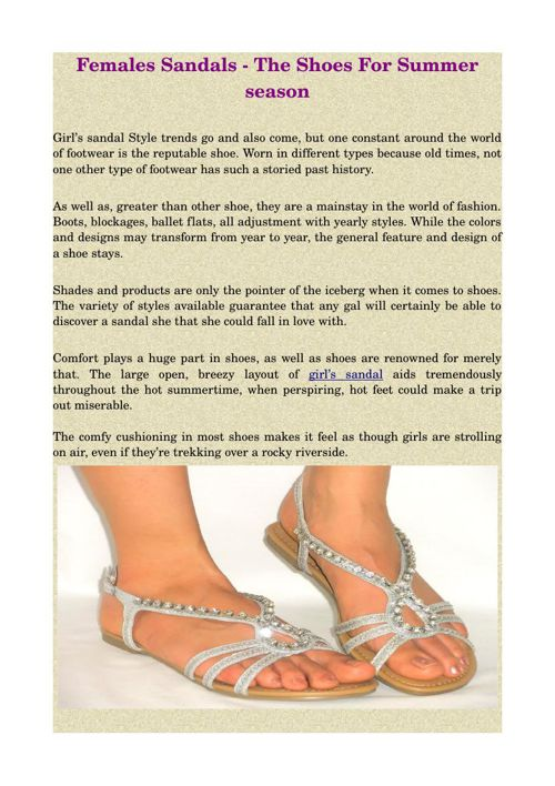 Females Sandals - The Shoes For Summer season
