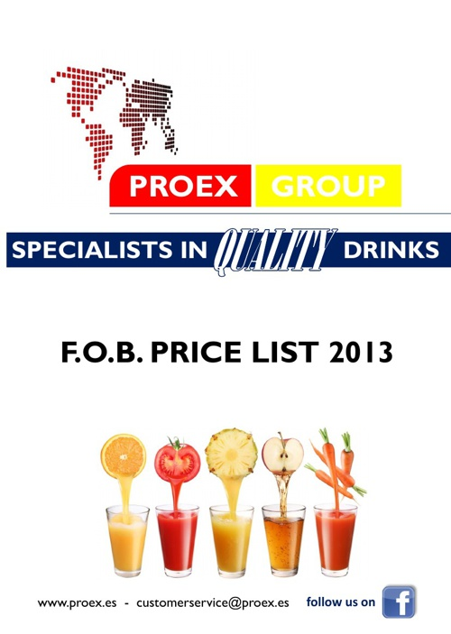 PROEX 2013 ON-LINE PRICE LIST