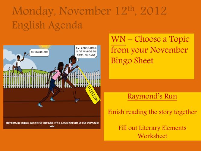 Week 13 Agenda Powerpoint