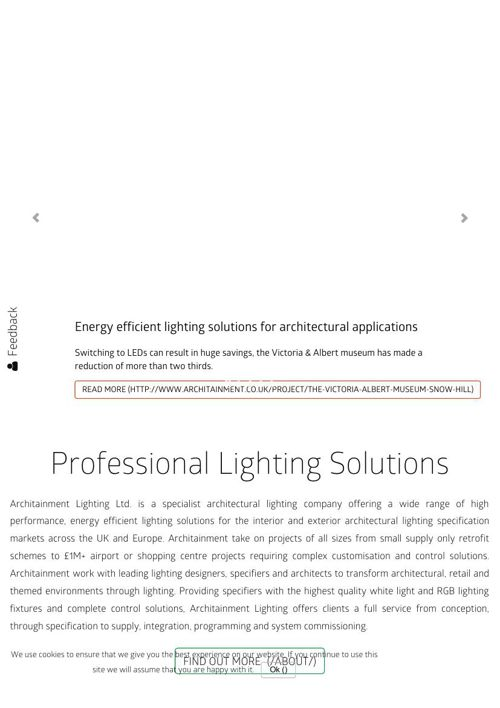 Professional Lighting Solutions - Architainment Lighting