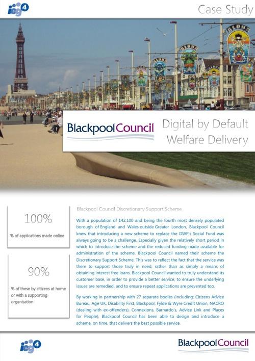 IEG4 & Blackpool Council - Local Social Fund Case Study