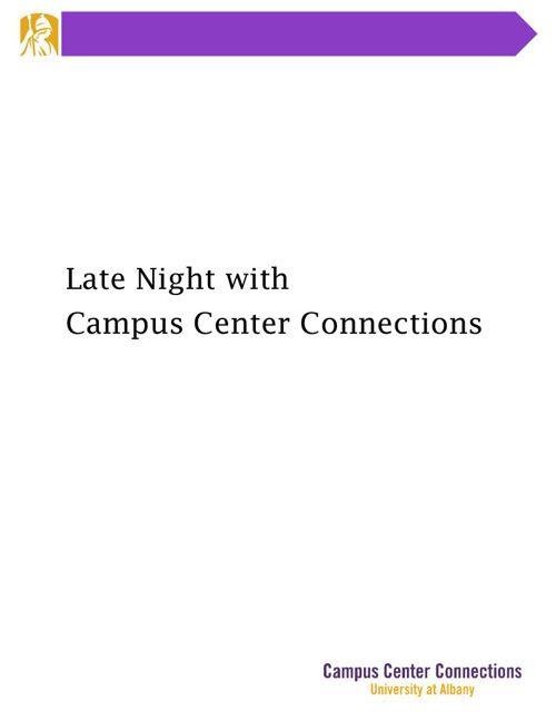 Late Night Catalog
