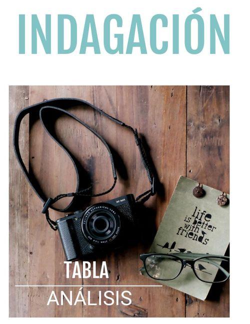 INDAGACIÓN, TABLA Y ANÁLISIS