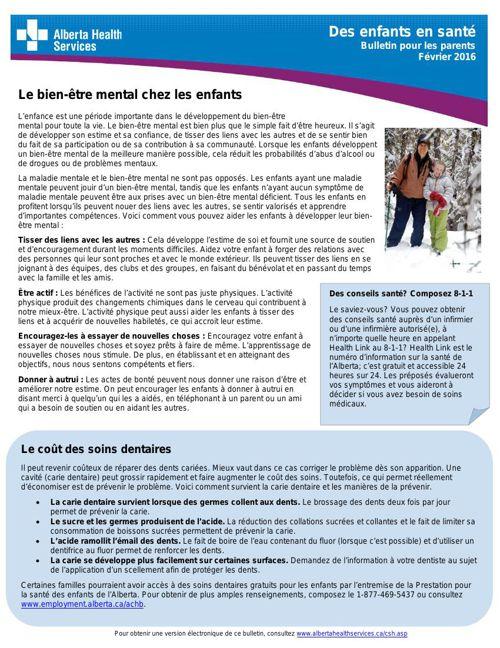 Bulletin santé février 2016