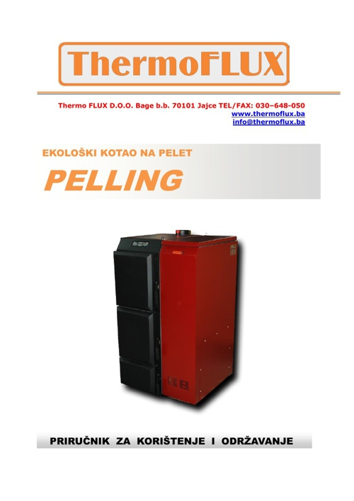 Uputstvo za upotrebu PELLING