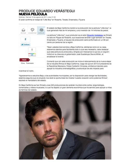Artículos de prensa en Español