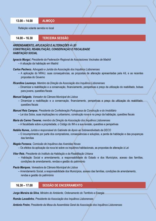 Programa da Conferência