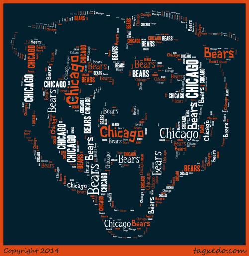 Chicago bears blue orange and white
