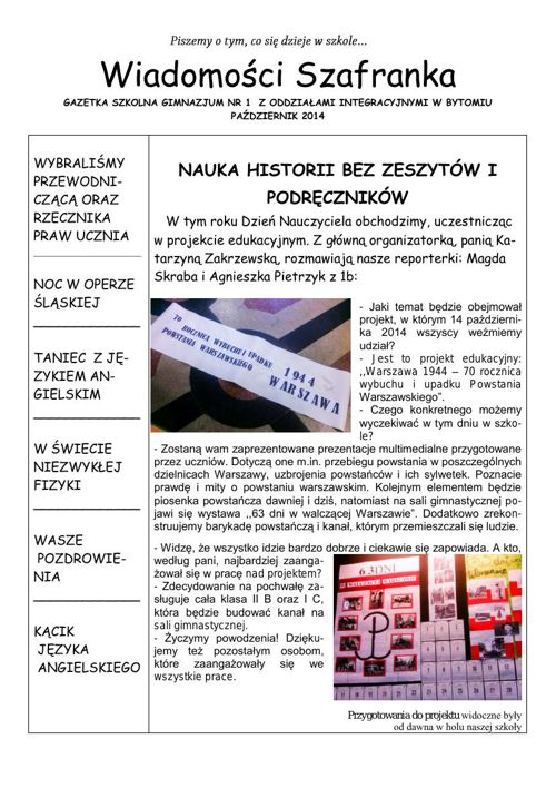 Wiadomości Szafranka 10 2014