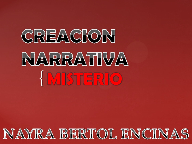 Creacion Narrativa
