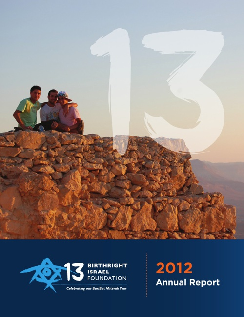 Birthright Israel Foundation Annual Report 2011/2012