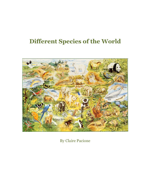 Different Species of the World