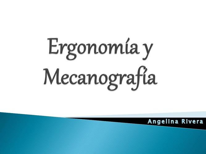 Ergonomía y Mecanografia