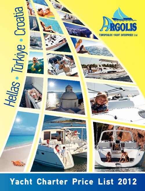 Argolis Yacht Charter Price List 2012