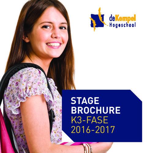 Stage Afstudeerfase 2016-2017