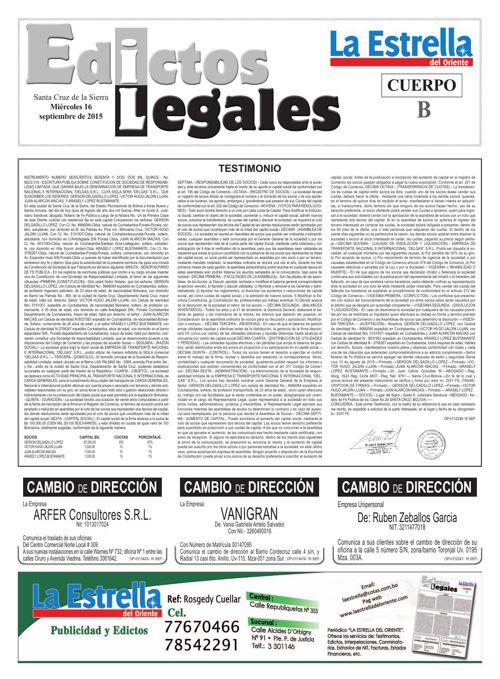 Judiciales 16 miércoles - septiembre 2015